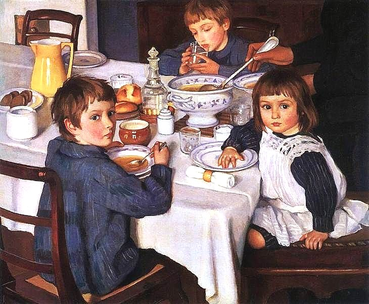 At Breakfast 1914 Zinaida Serebriakova