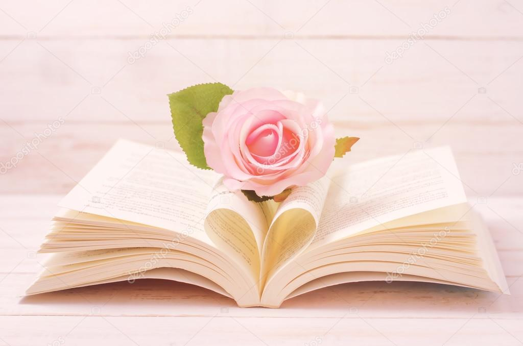 depositphotos 114609962-stock-photo-pastel-rose-and-opened-book